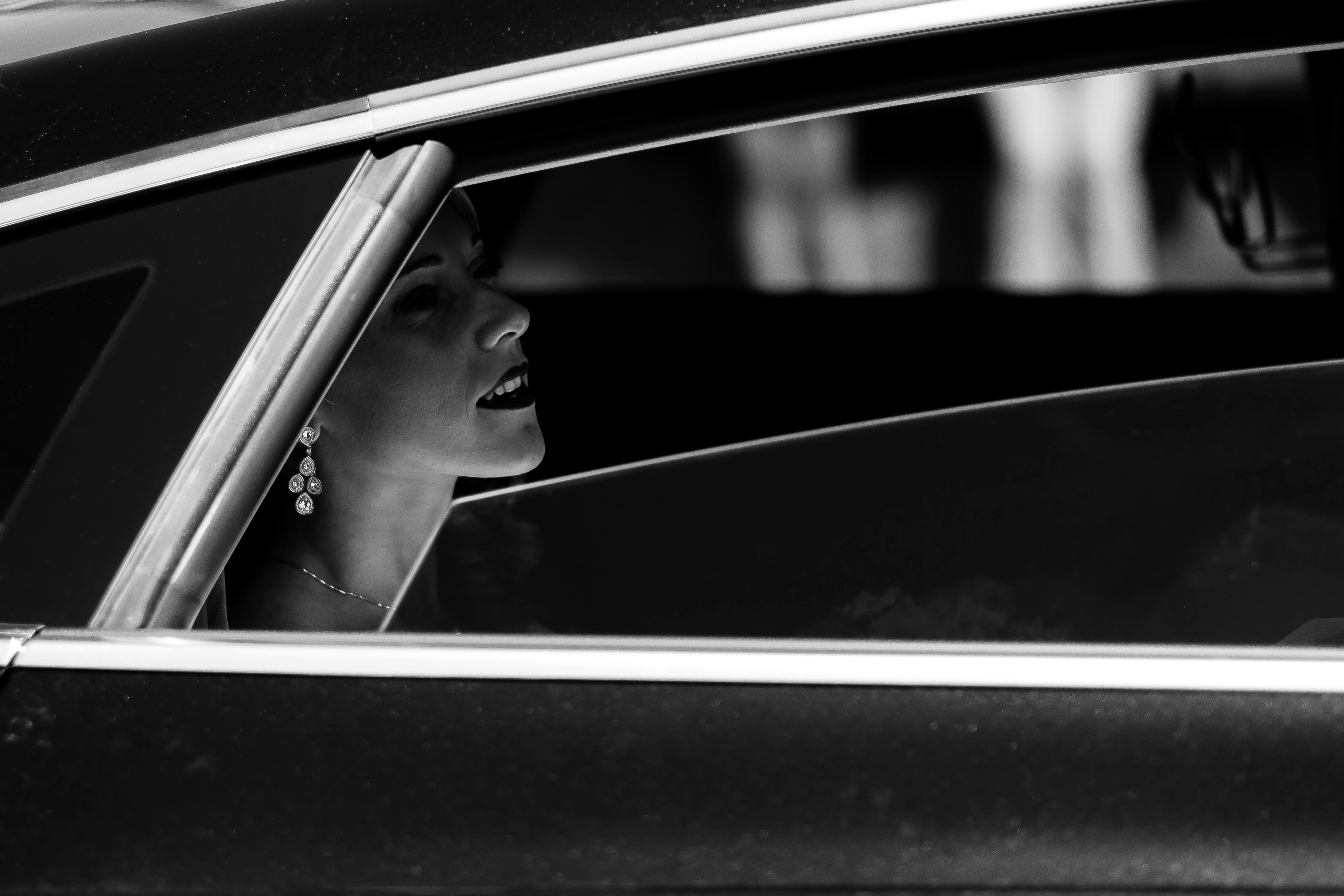 1_Mariee voiture noir et blanc