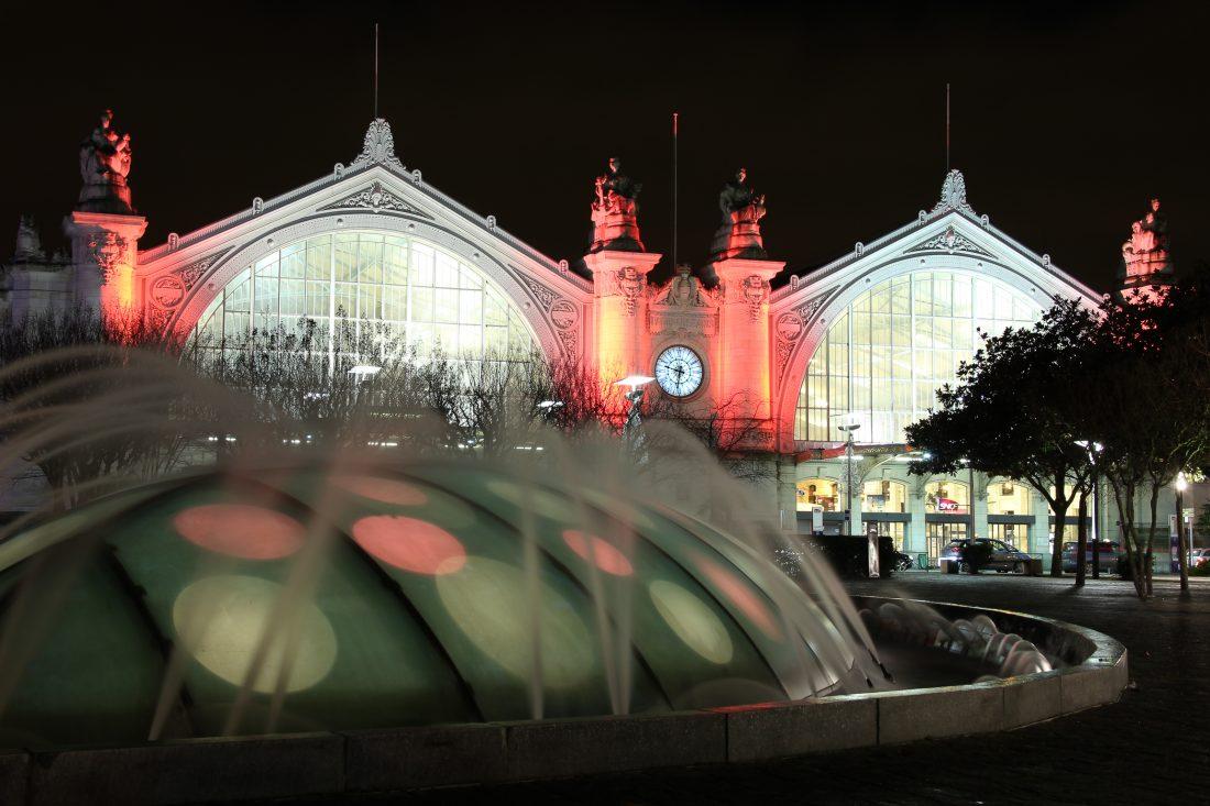 gare de Tours de nuit