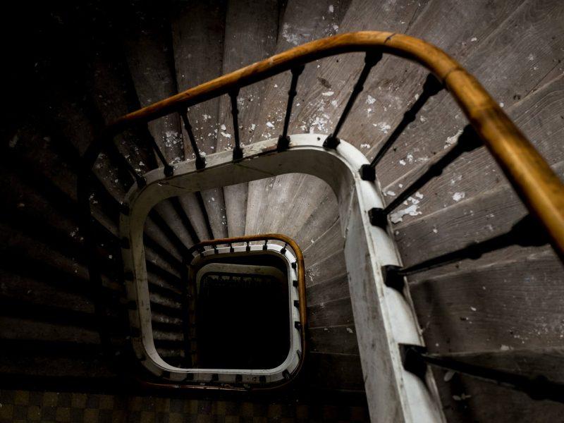 escalier en urbex