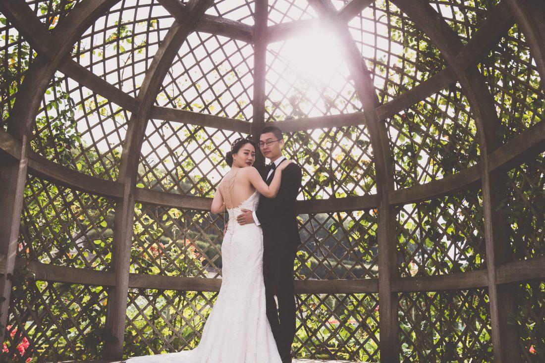 couple chinois dans les jardins de Villandry