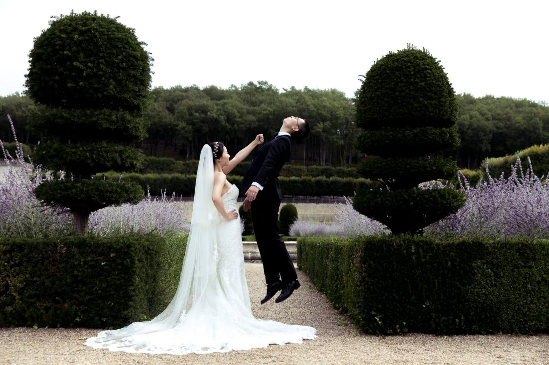 shooting photo mariage et moment decale pour ce couple chinois