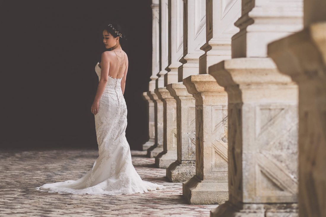 shooting photo mariage dans le chateau de Villandry