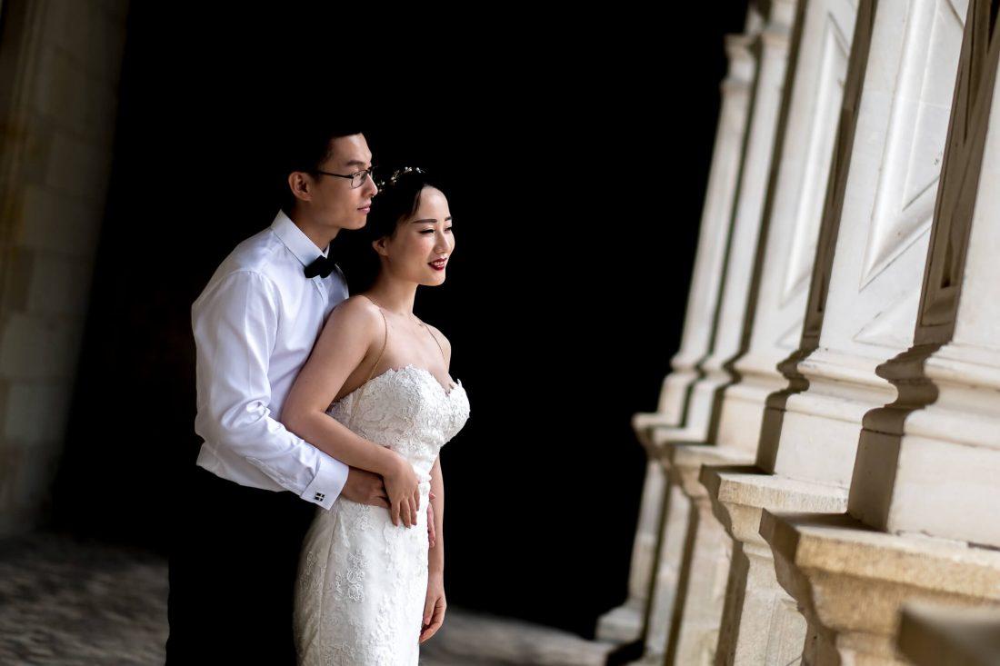 seance photo au chateau de Villandry pour ce couple chinois venu pour l'occasion