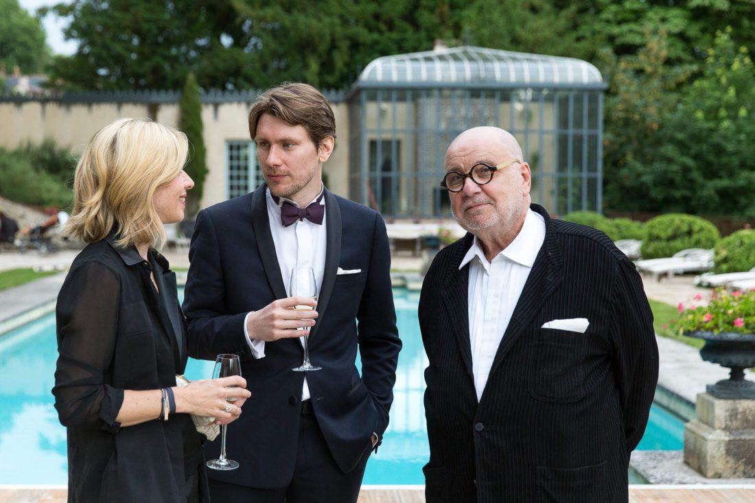 Serge Moati et Wendy Bouchard au mariage de Yoann Gillet