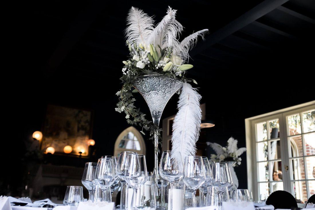 ambiance et deco, detail d'une table de ce mariage en Normandie a Etretat