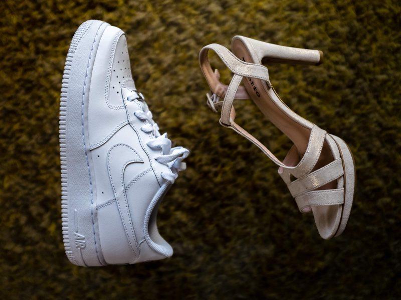 ambiance et deco, nike air force one vs chaussures à talon pendant les preparatifs du mariage
