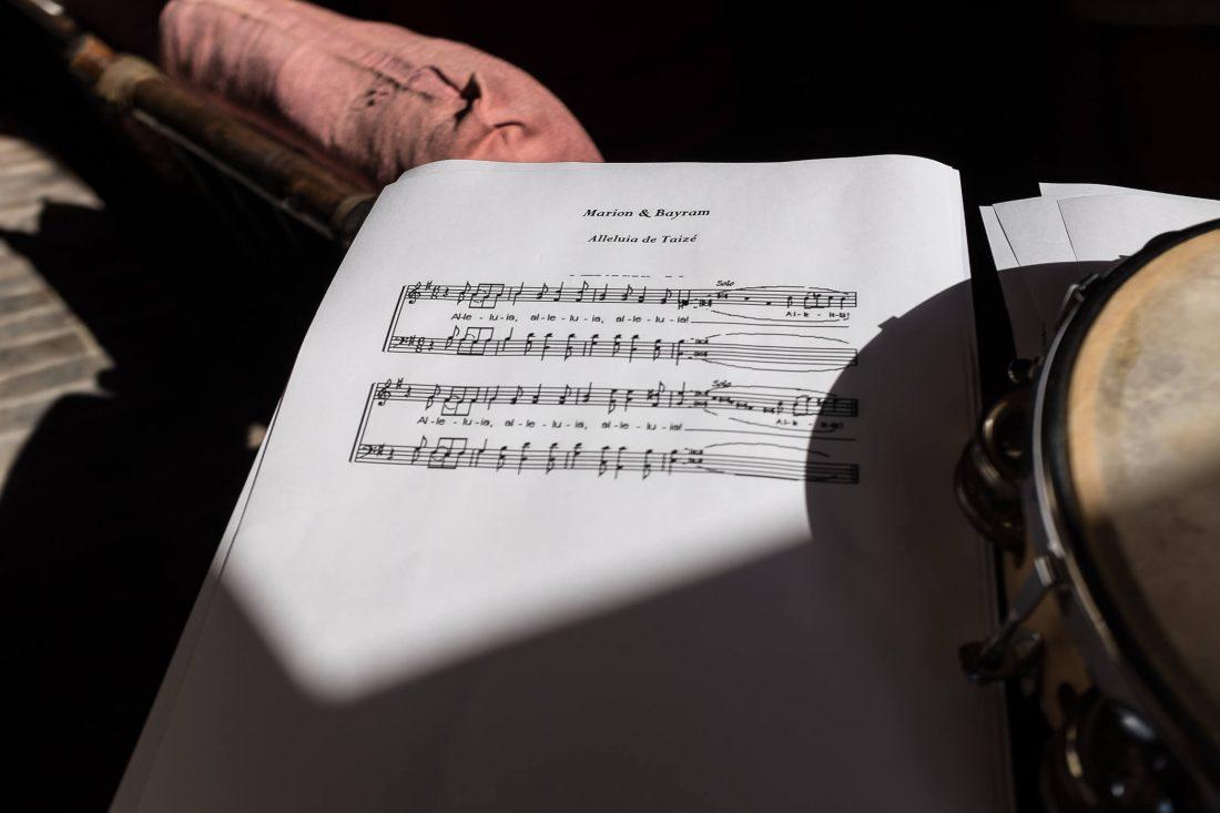 partition de musique jouee pendant la ceremonie laique