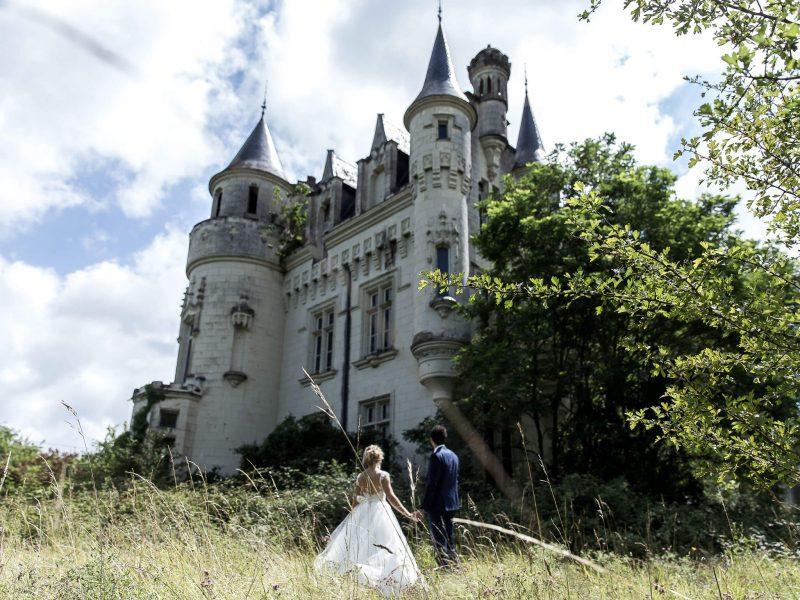 trash the dress en urbex au chateau des gendarmettes