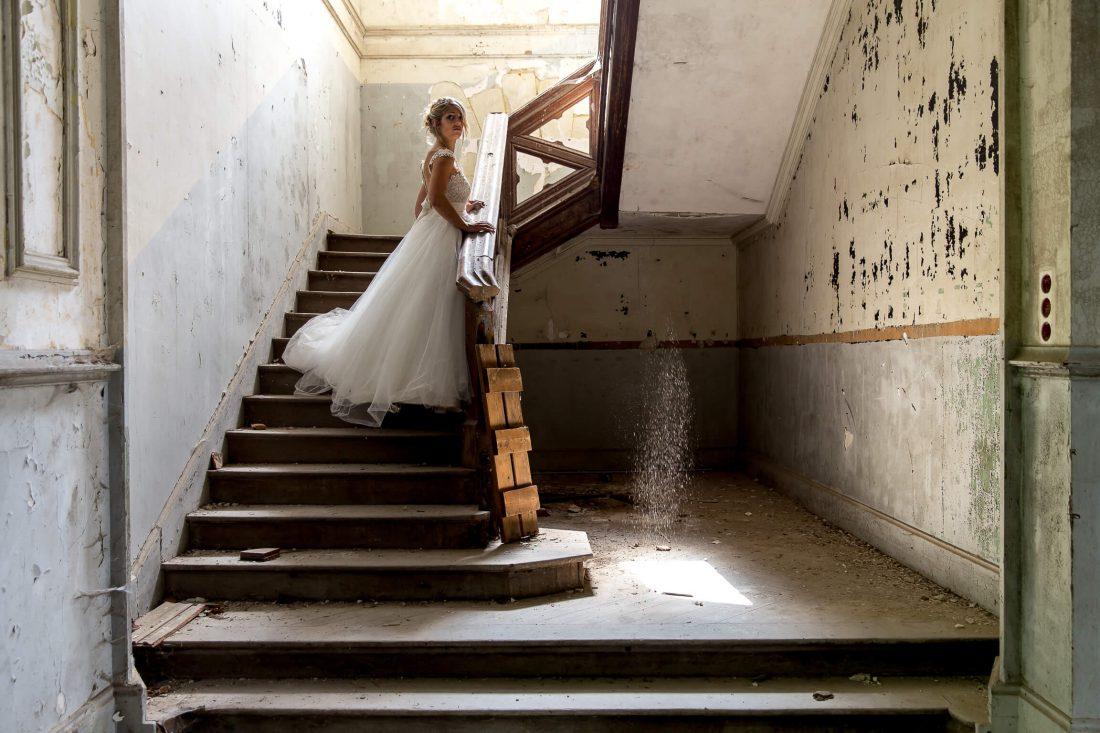 mariee dans le chateau des gendarmettes