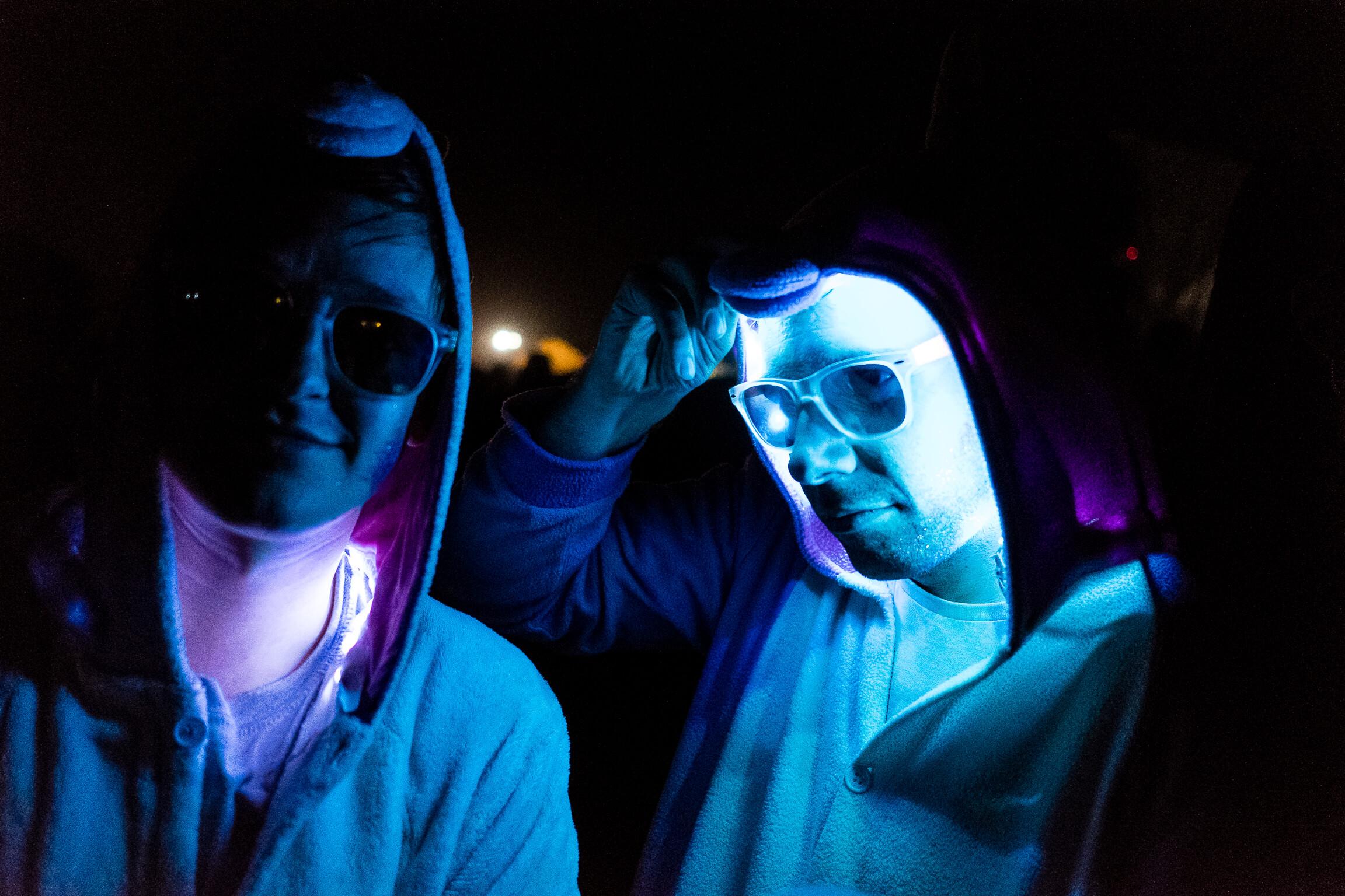 Les pinguins mascottes qui sont montés sur scene pendant le concert de Therapie Taxi au festival Terres du Son